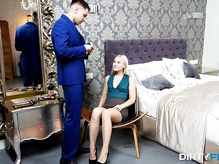 Insolent blonde strips be worthwhile for cock in nobs judiciary romance
