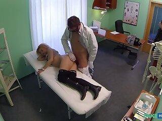 Cheating Blonde Sucks And Fucks Doctor After Impressive A Deal
