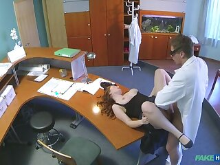 Doctor Gives His New Receptionist A Full Crowd Fucking