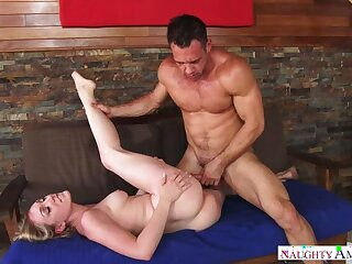Blonde Lily LaBeau fucking encircling the couch with her hairy tree