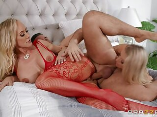 Blonde porn video featuring Keiran Lee, Holly Hotwife and Brandi Love