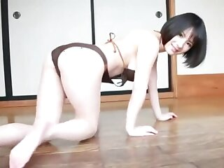 Alluring Rin Minami shows gone her stunning body smashing aggravation plus nice pussy