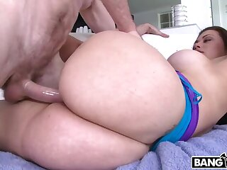 First time girl shooting porn has be imparted to murder biggest most surprising ass ever